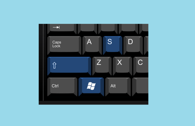 Windows key + shift S