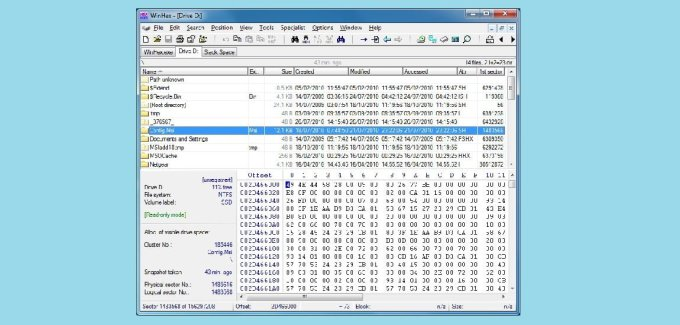WinHex Computer Forensics & Data Recovery Software