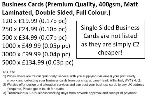 Premium quality double sided mat laminated business cards at value business card prices reheart Image collections