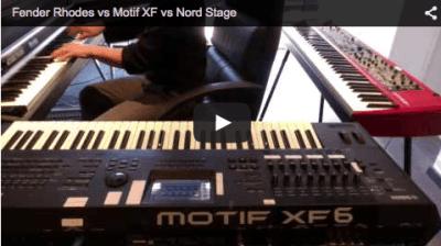 Fender Rhodes vs Motif XF vs Nord Stage