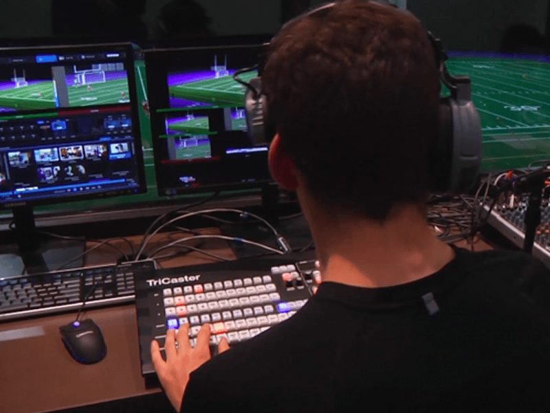 TriCaster-live football game