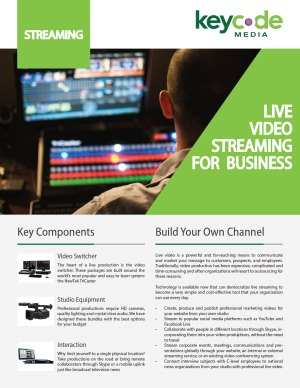 key code media brochure on live video streaming for business