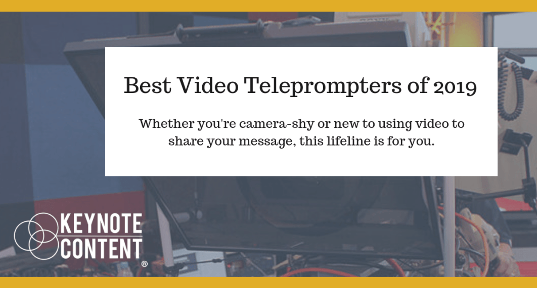 Best Video Teleprompters of 2019 | Keynote Content Jon Cook