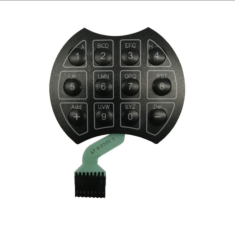Custom Poly Dome Tactile Membrane Switch for Digital Safe Lockers