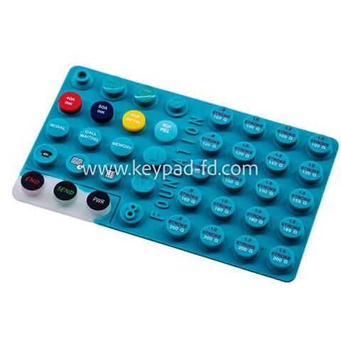 Silicone rubber keypad button