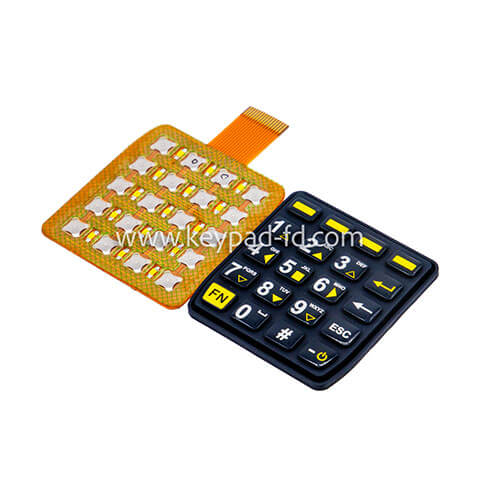 Silicone rubber numeric keypad