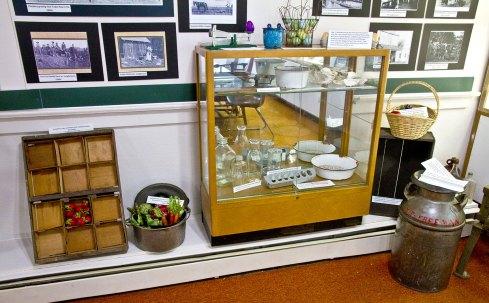 Key Peninsula Historical Society & Museum Cackleberries Humbleberries & Hooch Exhibit, Farming artifacts