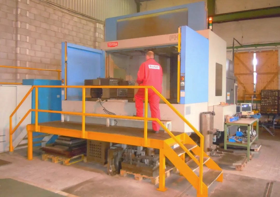 Welding automation equipment machining at Key Plant