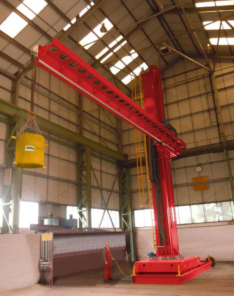 Key Plant Column & boom load test 1500kg