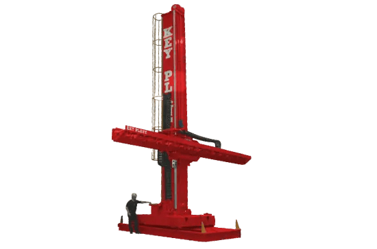 Extra heavy duty column and boom welding manipulator