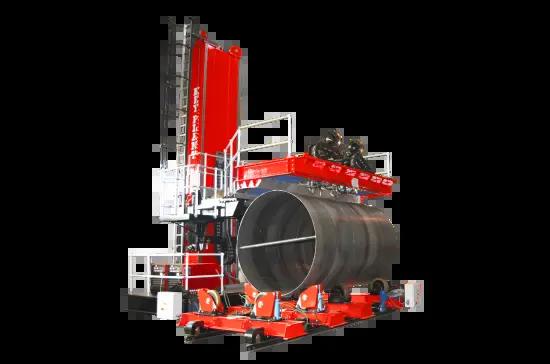 Special purpose built column and boom welding manipulator