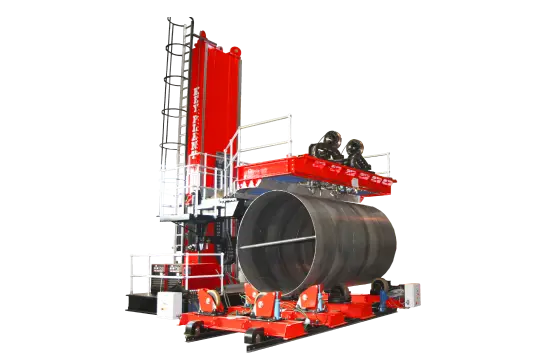 Special purpose built column and boom welding manipulator