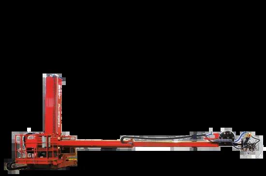 Telescopic column and boom welding manipulator