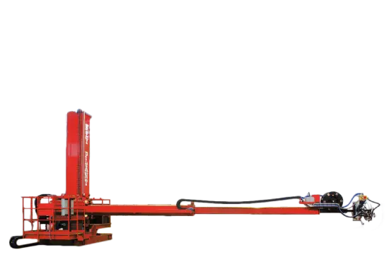 Telescopic column and boom welding manipulator