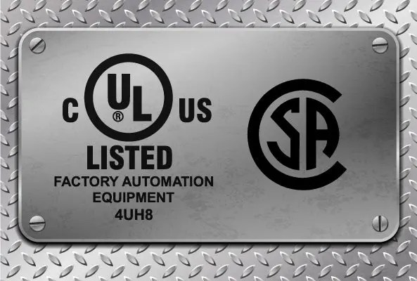UL C US Factory automation equipment for special purpose machines