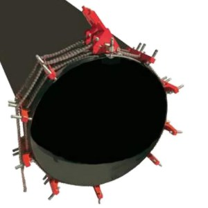 Double chain pipe clamp