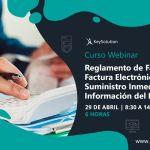 Webinar Curso sobre Reglamento de Facturación, Factura Electrónica y SII