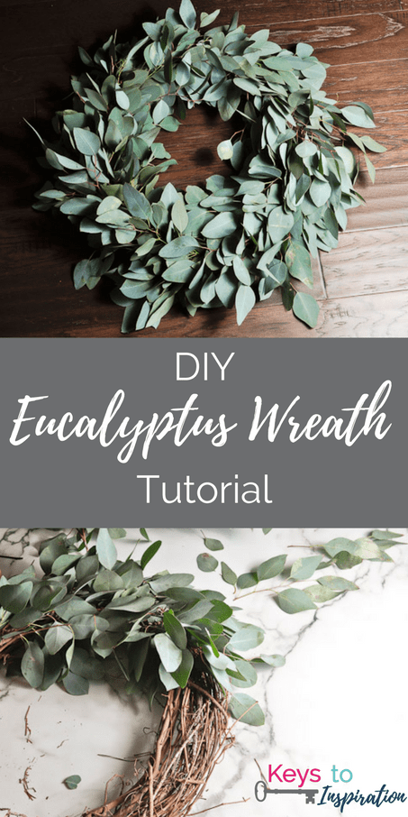 DIY Fresh Eucalyptus Wreath. Create a gorgeous greenery wreath for your home or wedding.