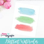Abstract Watercolor Printable Wall Art {Free Printable}