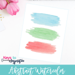 Abstract Watercolor Printable Wall Art {Free Printable}