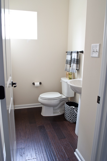 She shares her list of updates to transform her house into a home - this is the powder room list!