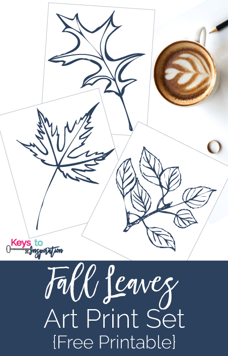 graphic relating to Free Printable Fall Leaves named Drop Leaves Artwork Print Fixed No cost Printable » Keys Towards Drive