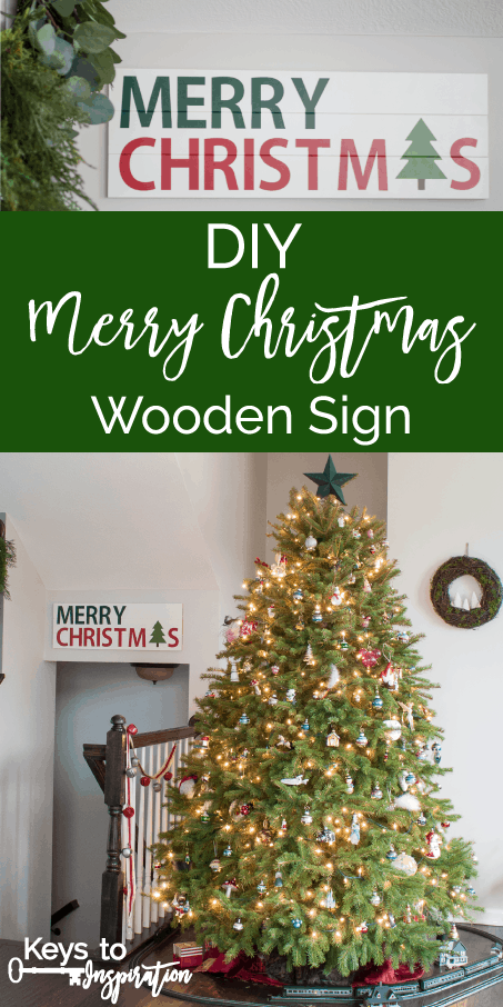 tutorial for making a diy merry christmas wooden sign such a great christmas decoration craft - Merry Christmas Wooden Sign
