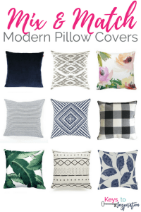 Get the Modern Classic look for less! Mix and Match Modern Pillow Covers for your home. All of these are from Amazon!
