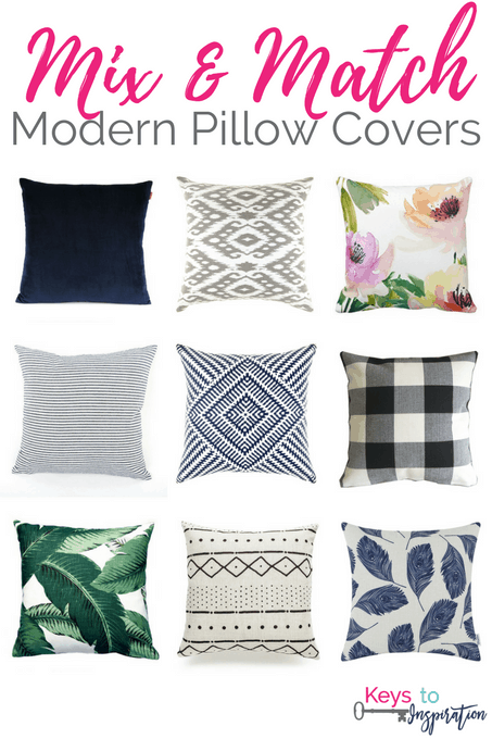 Get the Modern Classic look for less! Mix and Match Pillows for your home. All of these are from Amazon!