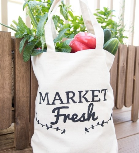 DIY Farmer's Market Tote {using the Cricut Explore} » Keys