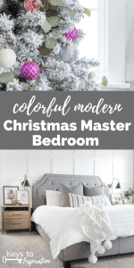Colorful Modern Christmas Master Bedroom