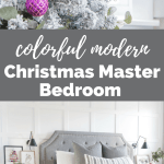 Colorful Modern Christmas Master Bedroom