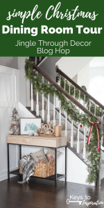 Simple Christmas Dining Room Tour {Jingle Through Decor Blog Hop}