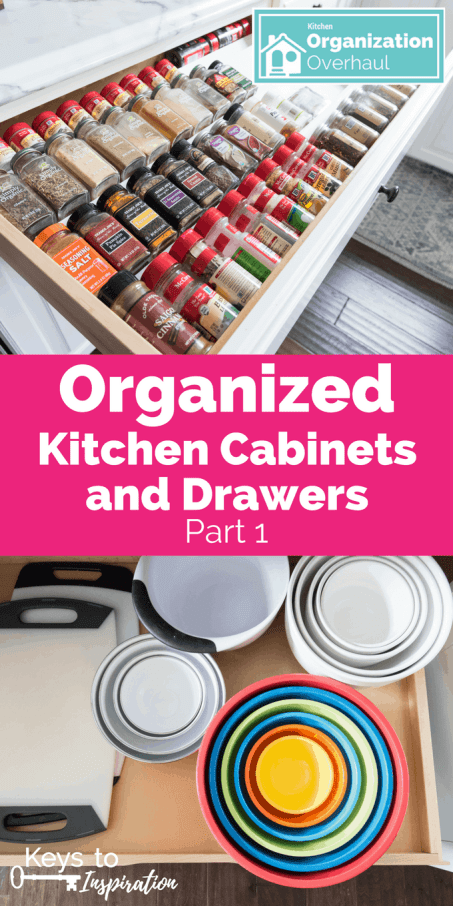 Organized Kitchen Cabinets and Drawers {Part 1} » Keys To Inspiration