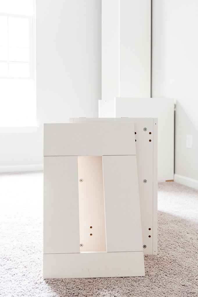 How to Build a Desk using IKEA SEKTION Cabinets {One Room ...