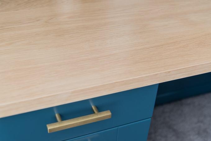 white oak wooden desk top countertop