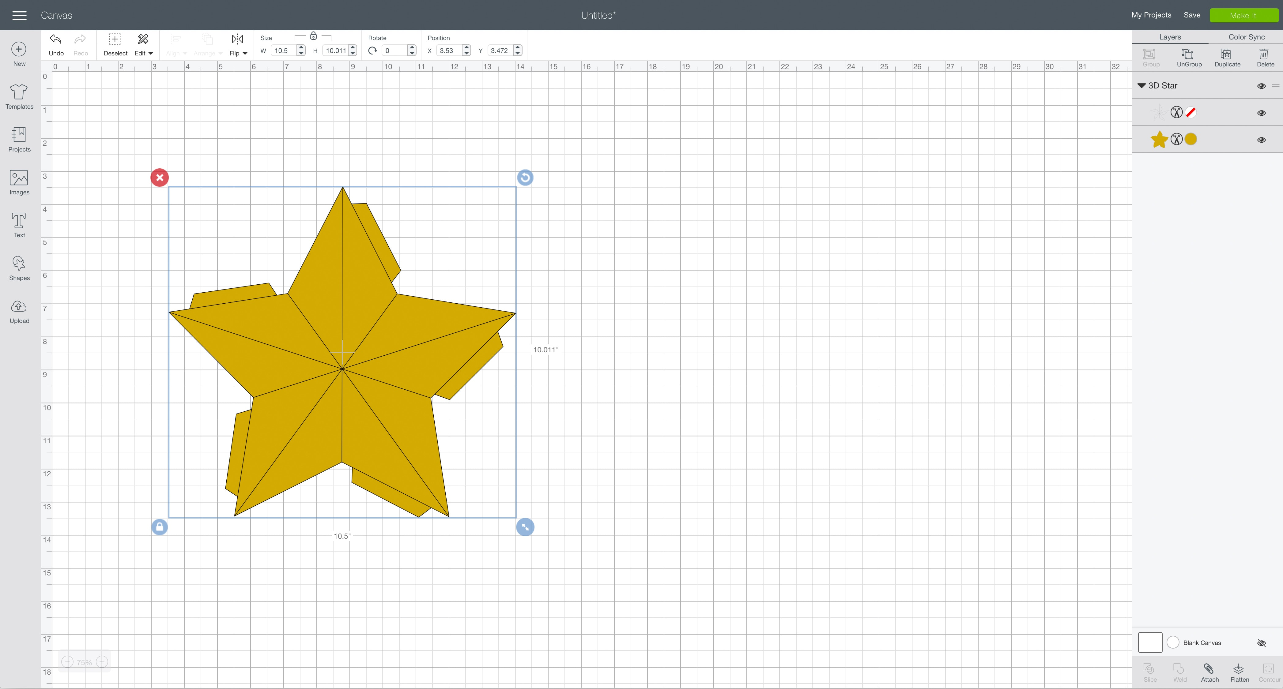 Easy 3D Star Decoration » Keys To Inspiration