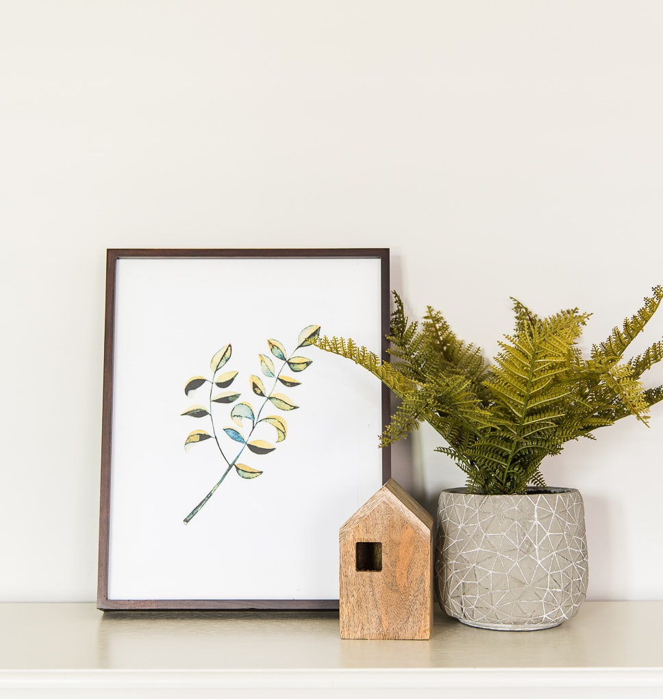 modern artwork printable floral greenery