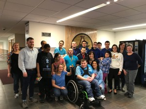 "Students and staff for ""Light it up Blue"""