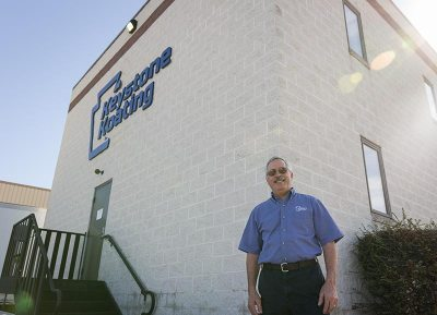 Nelson Zimmerman Standing Outside Keystone Koating in Lititz, Pennsylvania