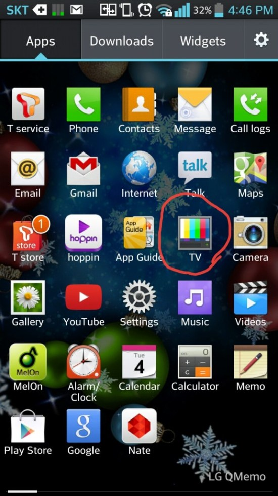 1. Locate your pre-installed TV app and open it.
