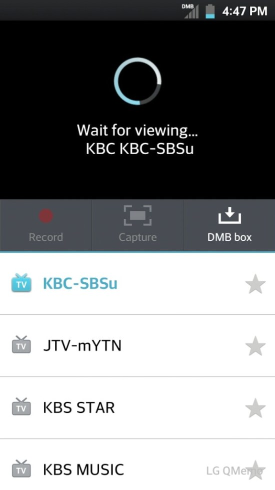 3. Select your TV channel (the default app seems to have 6-7 channels).