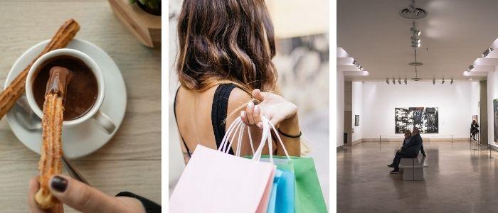 Madrid Churros, shopping, art