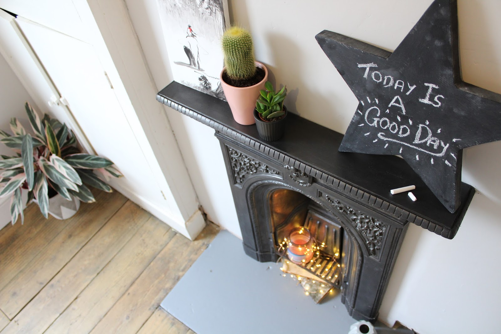 Painting The Hearth Victorian Fireplace Reveal Kezzabeth Diy Renovation Blog
