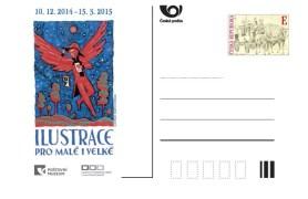 Příležitostná dopisnice Poštovního muzea k výstavě