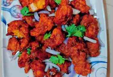 Healthy chicken pakora
