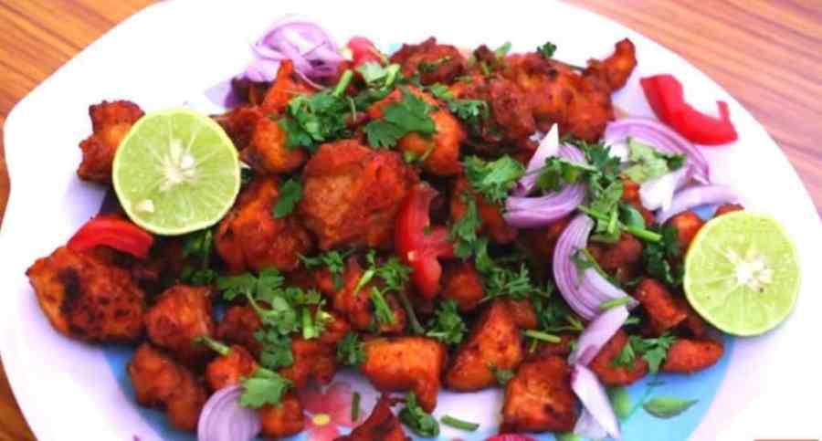 image of crispy & healthy chicken pakora recipe