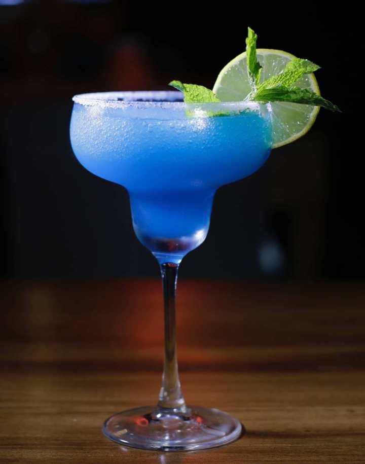 Blue margarita shot drink