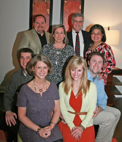 (seated) Dr. Mark and Amy Gustke; and, Catherine and Dr. Wesley Thorpe; also, (standing) Physician Assistant-Certified Lon and Susan Ramey; and, Dr. Gregory and Mrs. Dr. Dallie Ricca. Not pictured is Urologist Dr. Tommy Thompson.