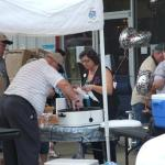 Allen and Rich Cahill serve up Petit Jean Hot Dogs and Ice Cold Pepsi